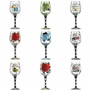 Our Name Is Mud Dog Cat Lovers Decorative Wine Glass Gift Boxed