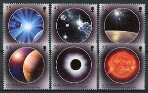 Guernsey-2009-Gomma-integra-non-linguellato-Astronomia-Telescopio-400th-ANNIV-EUROPA-6v-Set
