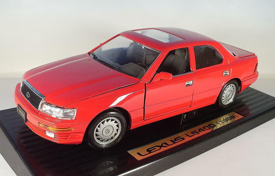 Majorette 1 18 LEXUS LS 400 Red (1989) Boxed