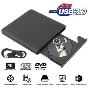 Usb 3.0 externo Dvd/bd/cd Drive Portátil Ultra Delgado 3D Blu Ray jugador