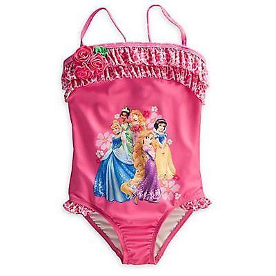 Disney Princess Sparkle Pink Tankini Swimsuit XXS -L 10 2//3 XXS 2//3