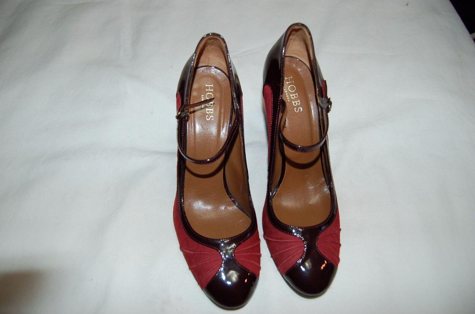 Hobbs Burgundy Suede/Patent Leder Heels Pumps in Schuhes Größe 40 Made in Pumps  ab2c0b