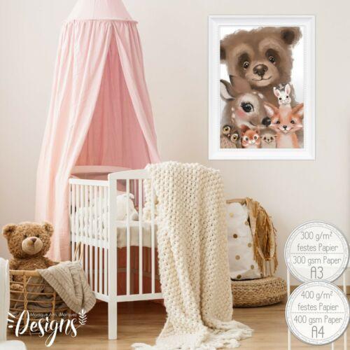 A4niños habitación imágenes bosque animales bebé cuarto decoración niños-habitación animales imagens48