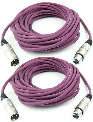 Strict 2x 10 M Mikrofonkabel Xlr Purpur Lila Violett Dmx Kabel Adam Hall K3 Mmf 1000 Aromatic Character And Agreeable Taste Dj Equipment Musical Instruments & Gear