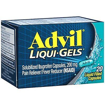 2 Pack - Advil 200 mg Liqui-Gels 20 Liqui-Gels Each