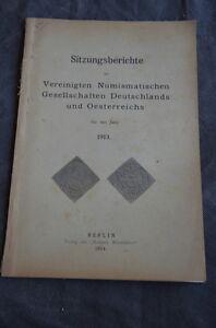 Libro - sitzungsberichte vereinigten numismatischen 1913 berlin Catalogo monete - Italia - Libro - sitzungsberichte vereinigten numismatischen 1913 berlin Catalogo monete - Italia