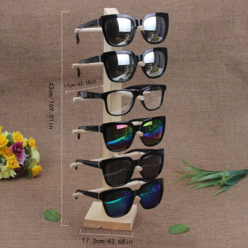 Wooden Sunglasses Glasses Show Rack Counter Display Stand Holder Frame Organizer