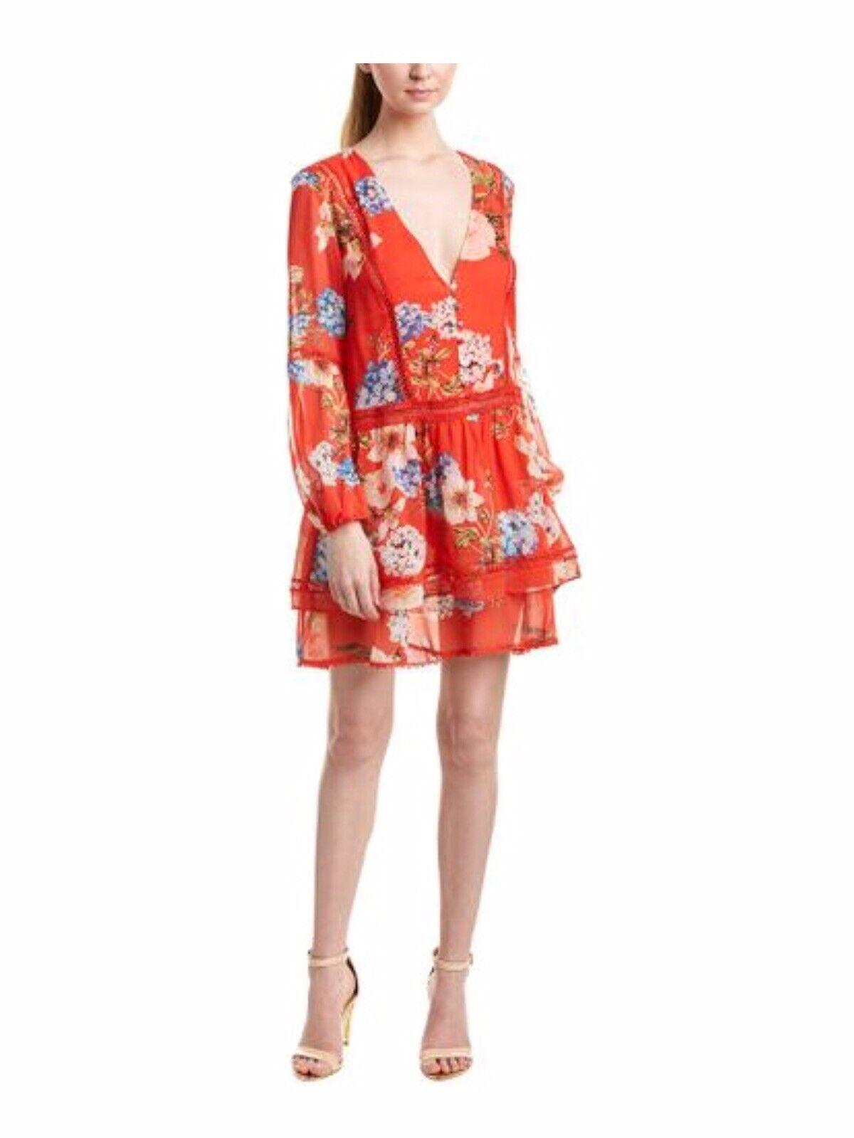 NWT  NICHOLAS Hydrangea Silk Floral Shift Dress US 4 AUS 8 IT 40 FR 36
