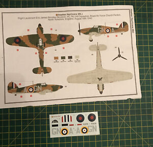 Airfix-1-72-Hawker-Hurricane-Mk1-G-For-Gina-GNA-Decals-Set-Battle-Of-Britain
