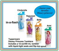 Tupperware Disney Princess Tumbler Belle Ariel Cinderella Rapunzel ...u Choose