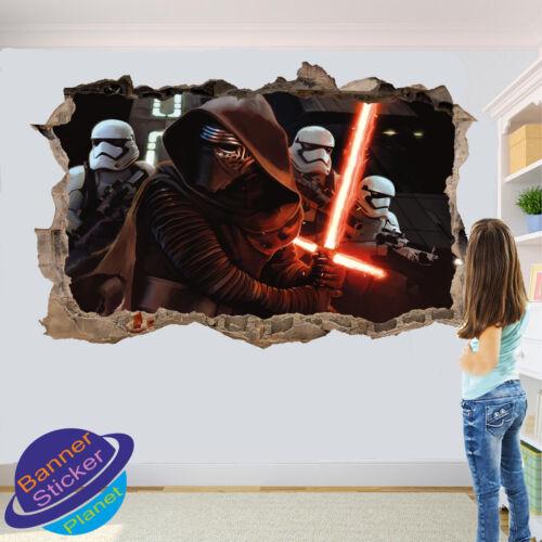 Star Troopers Wars Darth Wall Sticker 3d Art Poster Decal Mural Kids Bedroom YE0