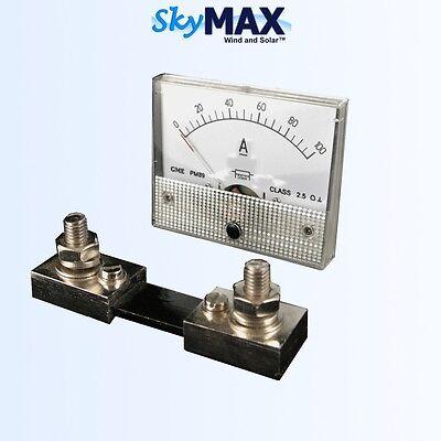 100 Amp DC analog meter for wind turbine generator solar panel pv RV marine