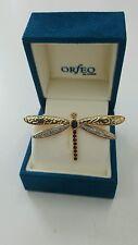 Brosche Gold Libelle/Schmetterling Diamant und Granat