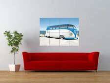 CUSTOM VW VAN SPLIT SCREEN BEACH OCEAN GIANT ART PRINT PANEL POSTER NOR0636
