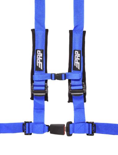 "PRP 2/"" 4 Point Blue Harness Kit PAIR 4.2 w// Auto Style Latch  RZR X3 RS1 XP UTV"