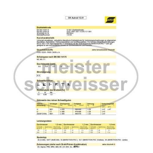 ESAB Schutzgas Schweißdraht Stahl G3Si1 SG2 MIG//MAG 0,8mm 5kg D200 Schweißgerät