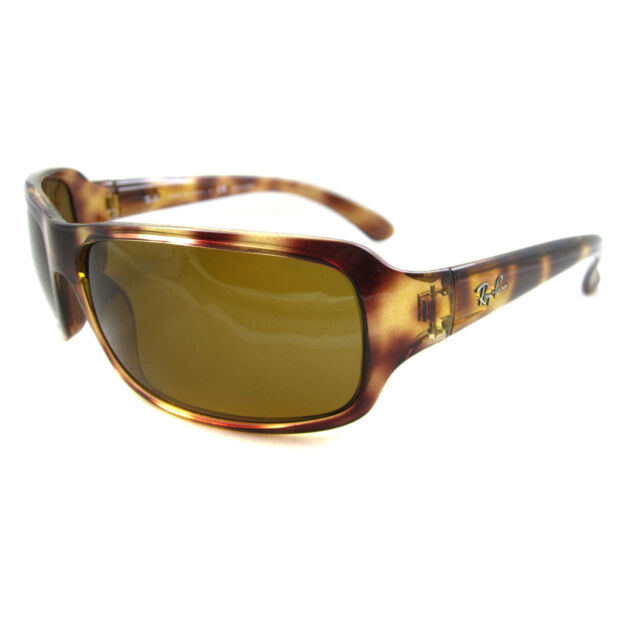 c573149914 Ray-Ban RB 4075 642 57 Havana Plastic Wrap Sunglasses Brown ...