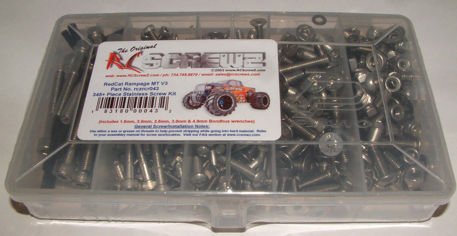 REDCAT RACING RAMPAGE MT V3 1 5TH RC SCREWZ STAINLESS STEEL SCREW SET RCR043