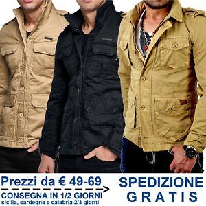 Giacca-Uomo-Casual-in-Cotone-Vintage-Giaccone-Moda-di-Mezza-Stagione-Tipo-Jeans
