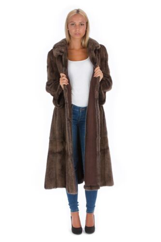 40 42 Nerz Leder Wendemantel Pelz Шуба Mode Fur Style Fashion Fell Mink 148zfwxq