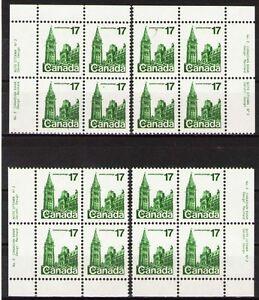 Canada 1979 Sc790(#2) $ 4.8 Mi718A 8.0 MiEu 1MIbl mnh Definitives-Parliament