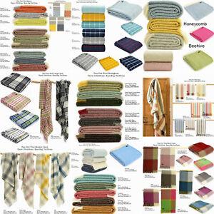 TWEEDMILL-TEXTILES-KNEE-RUGS-100-Wool-Small-Throw-Sofa-Blanket-Beehive-BRITISH