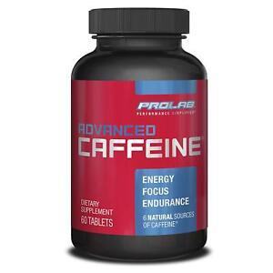 ENERGY-GREEN TEA-WHITE TEA-GREEN COFFEE-GUARANA-PROLAB ADVANCED CAFFEINE-60 TABS