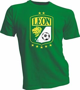 Club Leon F.C. Futbol Soccer Mexico Green T-SHIRT Camiseta New Green ... f954f6605