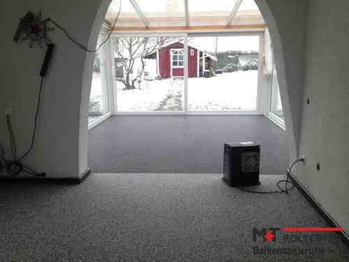 Bindemittel SONDER-PACK Bad Büro Wohnbereich 2,4m² SET Steinteppich Sonnengelb