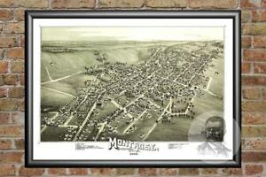Old-Map-of-Montrose-PA-from-1890-Vintage-Pennsylvania-Art-Historic-Decor