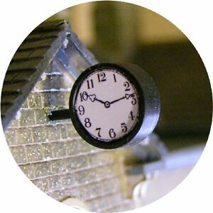 O-GAUGE-STATION-CLOCK-VERSATILE-TWO-FACED-FOR-HORNBY-MODEL-RAILWAY-LAYOUT