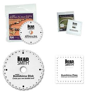 Beadsmith-Kumihimo-Braiding-Disk-Square-or-Round-With-Without-Instructions-ML