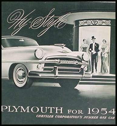 Belvedere Savoy Plaza 1954 Plymouth Brochure Xlnt