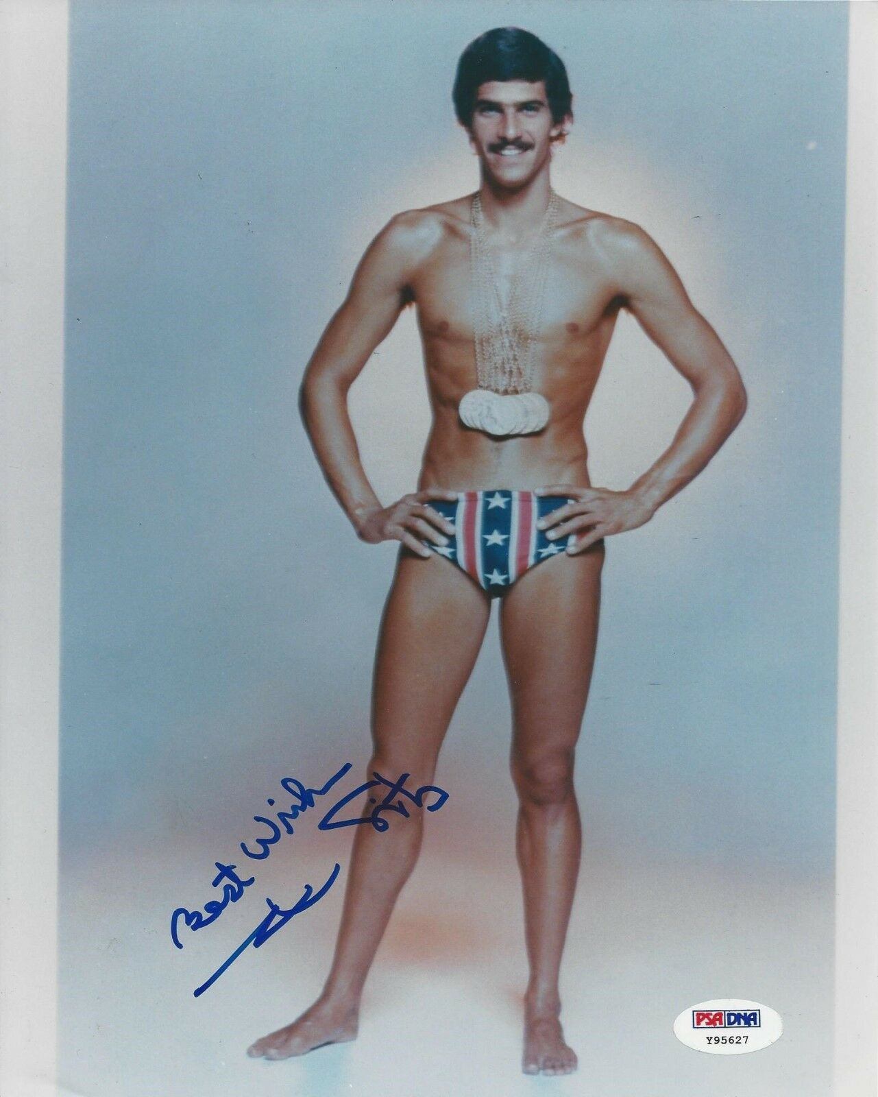 Mark Spitz Nine-Time Olympic Champion Signed 8x10 Photo - PSA/DNA # Y95627