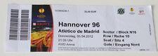 old TICKET EL Hannover 96 Germany - Atletico Madrid Spain