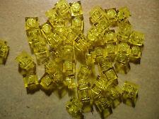 LEGO 1 x 1 TRANS YELLOW BRICK/PLATE x 50  PART 3024
