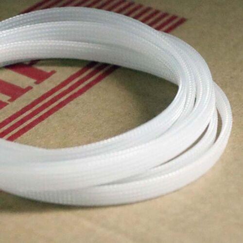 3mm-12mm Transparent Geflechtschlauch Gewebeschlauch Kabel PET Sleeve Meterware