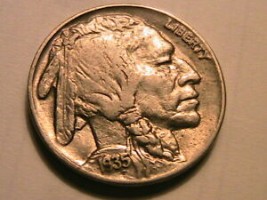 1935-P-Buffalo-Nickel-Choice-AU-Lustrous-Toned-Original-Indian-Head-5-Cent-Coin