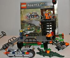 2008 set & mini figures Lego Agents 8632 Mission 2 Swamp Raid