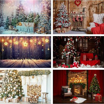5x7Ft Merry Christmas Background Backdrop Snow Studio Photography Photo Props UK