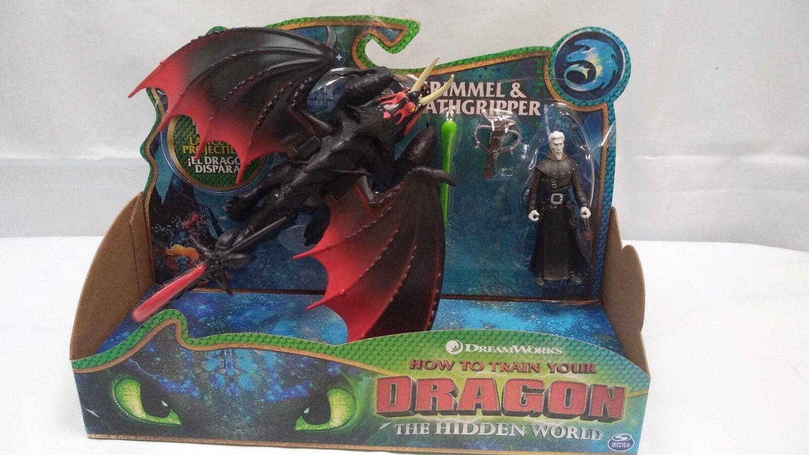 How to Train Your Dragon The Hidden World Grimmel Grimmel Grimmel & Deathgripper Playset Toy 69eca5