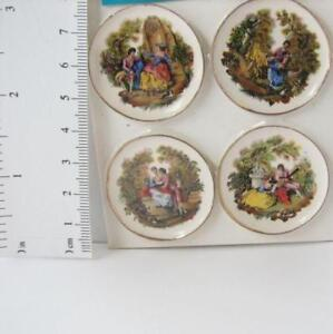 DOLLHOUSE Plate w Pelicans Lg Round CDD538 By Barb Wall Art Miniature