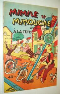 BD-MIMILE-ET-MINOUCHE-A-LA-FETE-Les-deux-jumeaux-ARISTIDE-PERRE-ROUFF-1957-TBE