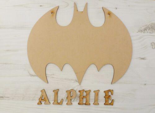 Name Plaque BATMAN personalised door sign wall art bedroom MDF Wooden