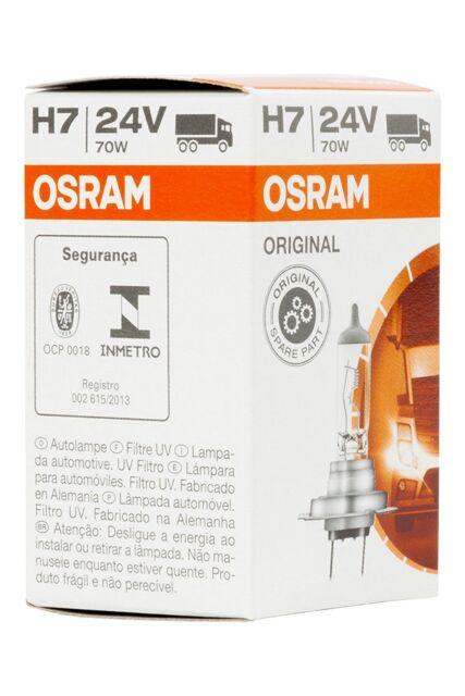 OSRAM ORIGINAL H7, Halogen-Scheinwerferlampe, 64215, 24V LKW, Faltschachtel 1Stk