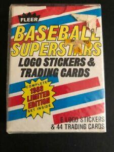 1988 Fleer Baseball Superstars Logo Stickers Trading Cards Factory Ltd