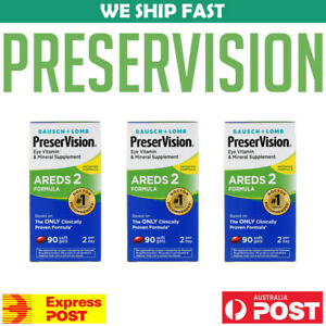 3-x-Bausch-Lomb-PreserVision-AREDS-2-Formula-90-Soft-Gels-Vision-AU-STOCK