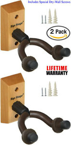 2-PACK-Top-Stage-Guitar-Wall-Mounted-Hanger-Holder-Wooden-Stand-JX15-NA-Q2