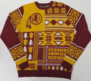 timeless design 9aa42 1adfa Details about NFL Ugly Quirky Christmas Xmas Crew Neck Sweater New  Washington Redskins