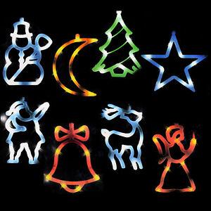 LED Fenstersilhouette Fensterbild beleuchtet Leuchtbild Weihnachten Deko Engel